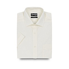 The Collection - Big and tall cream short sleeved regular fit shirt