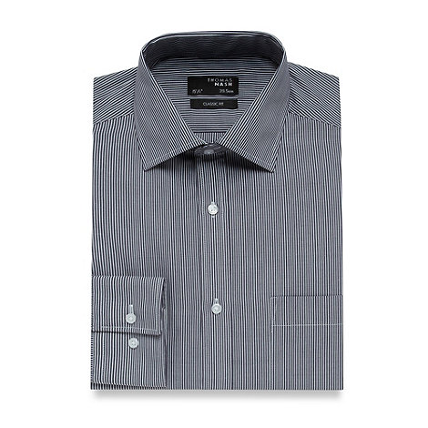 Thomas Nash - Big and tall light blue fine striped shirt
