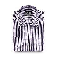 The Collection - Lilac textured grid tailored fit shirt