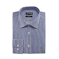 The Collection - Big and tall blue grid print classic fit shirt