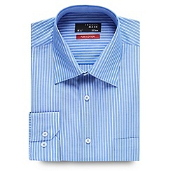 Thomas Nash - Blue striped long sleeved shirt