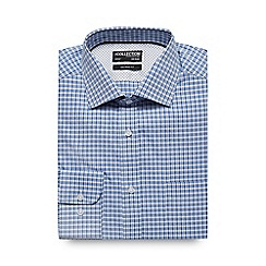 The Collection - Big and tall blue gingham print tailored shirt