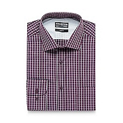 The Collection - Dark red checked print slim fit shirt