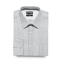 The Collection - Big and tall black and white checked print slim fit shirt