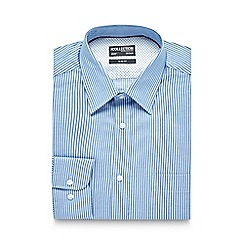 The Collection - Blue twill striped slim fit shirt