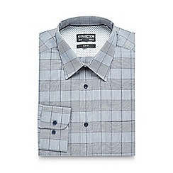The Collection - Navy checked print slim fit shirt