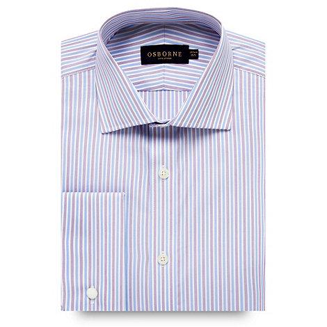 Osborne - Blue contrast striped shirt