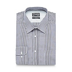 The Collection - Big and tall navy gingham checked print slim fit shirt