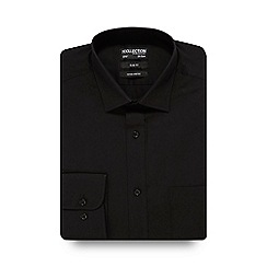The Collection - Black pointed collar slim fit shirt