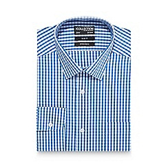 The Collection - Blue gingham print slim fit shirt