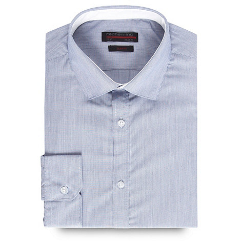 Red Herring - Blue fine striped slim fit button cuffed shirt