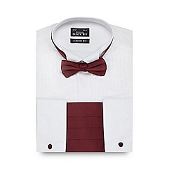 Black Tie - Big and tall white classic fit shirt and bow tie