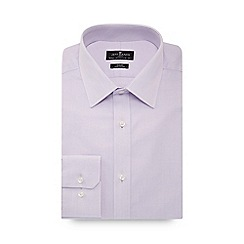 Jeff Banks - Big and tall lilac dobby slim fit shirt
