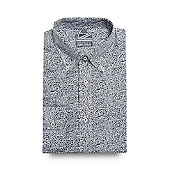 Jeff Banks - Black and white paisley print slim fit shirt