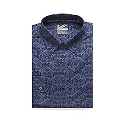 Jeff Banks - Blue paisley print button-down shirt