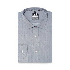 Jeff Banks - Blue fine striped slim fit shirt