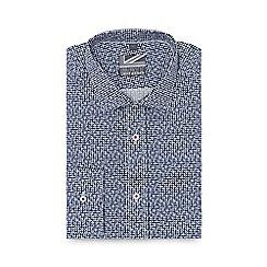 Jeff Banks - Blue floral print slim fit shirt