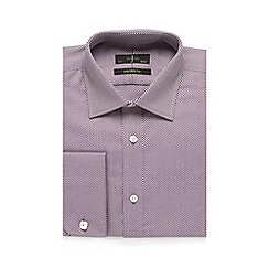 J by Jasper Conran - Big and tall plum striped print tailored fit shirt
