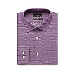J by Jasper Conran - Purple zigzag twill slim fit shirt