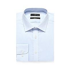 J by Jasper Conran - Big and tall blue dobby slim fit shirt