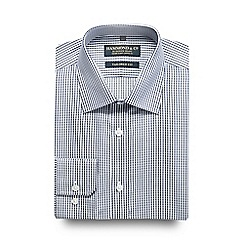 Hammond & Co. by Patrick Grant - Big and tall navy striped tailored fit shirt