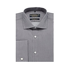 Hammond & Co. by Patrick Grant - Big and tall grey striped print tailored fit shirt