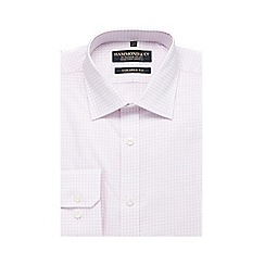 Hammond & Co. by Patrick Grant - Big and tall pink check print tailored fit shirt