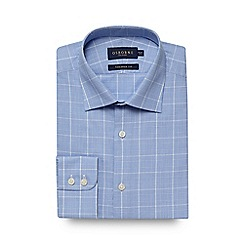 Osborne - Blue checked print tailored fit shirt
