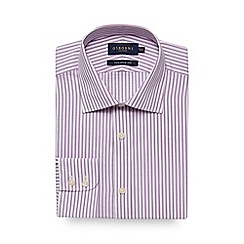 Osborne - Big and tall lilac striped print tailored fit shirt