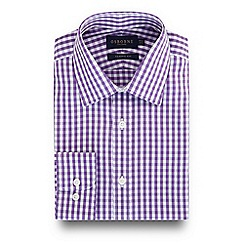 Osborne - Lilac gingham checked print regular fit shirt