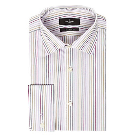 Jeff Banks - Big and tall lilac multi shade striped shirt