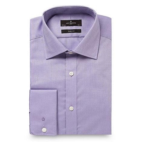 Jeff Banks - Designer lilac diamond textured shirt