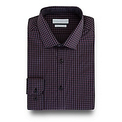 Red Herring - Red gingham checked print slim fit shirt