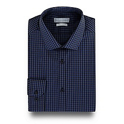 Red Herring - Navy gingham checked print slim fit shirt