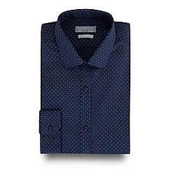Red Herring - Navy spotted print slim fit shirt