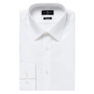 Jeff Banks Designer White Tailored Point Collar Shirt
