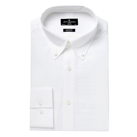 Jeff Banks - Designer white tailored button down collar shirt