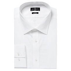 Jeff Banks - Big and tall designer white slim modernist collar shirt