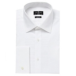 Jeff Banks - Big and tall designer white slim cutaway collar shirt
