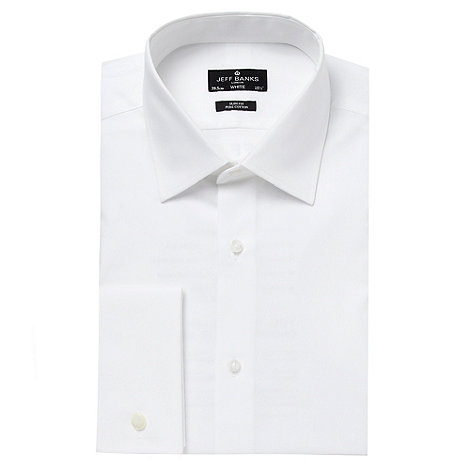 Jeff Banks Designer White Slim Cutaway Collar Shirt