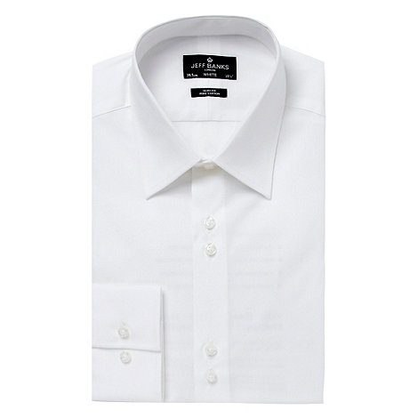 Jeff Banks - Designer white slim two button collar shirt