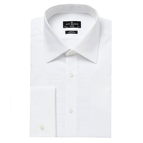 Jeff Banks - Designer white slim city collar shirt