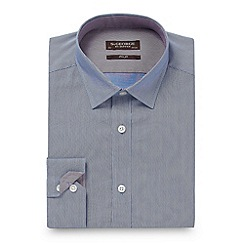 St George by Duffer - Big and tall blue slim fit fine striped shirt