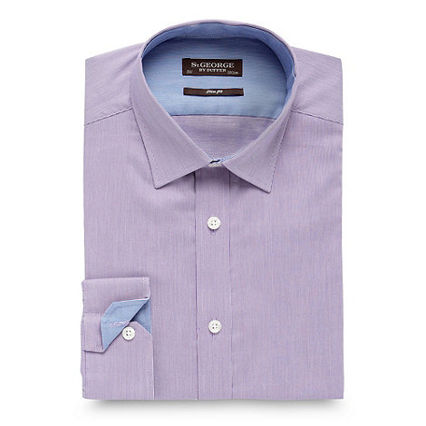 St George by Duffer - Lilac fine striped shirt