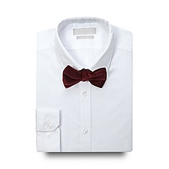 Red Herring - White slim fit shirt and red bow tie set