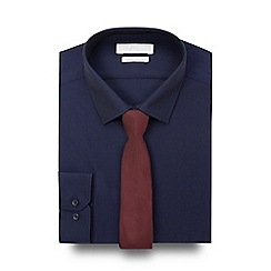 Red Herring - Navy slim fit shirt and skinny tie set