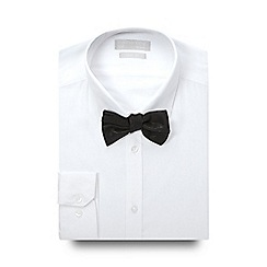 Red Herring - White slim fit shirt and black poplin bow tie set