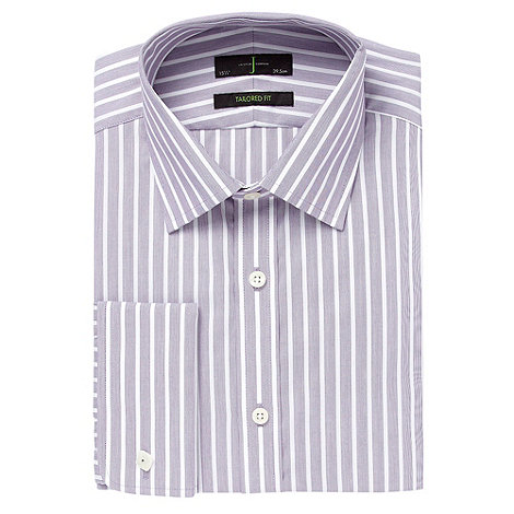 J by Jasper Conran - Big and tall purple fine striped shirt