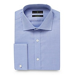 J by Jasper Conran - Big and tall blue tailored fit textured plain shirt