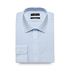 J by Jasper Conran - Blue dobby texture tailored fit shirt